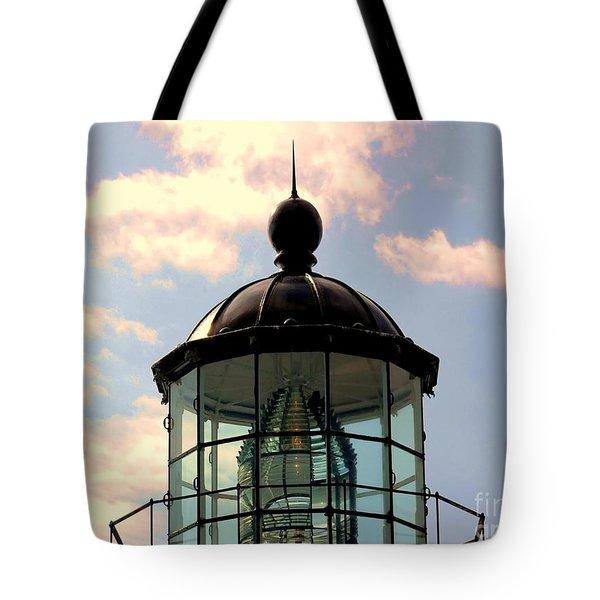 Top Of Bonita Lighthouse Tote Bag by Kathleen Struckle
