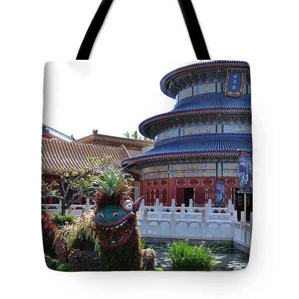 Topiary Dragon Tote Bag
