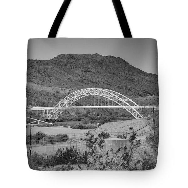 Topock Bridge Tote Bag by Ricky Barnard