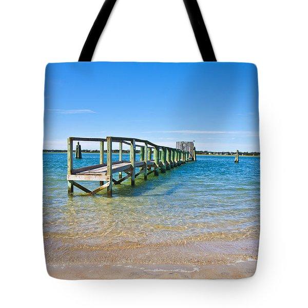 Topsail Island Sound Tote Bag by Betsy Knapp