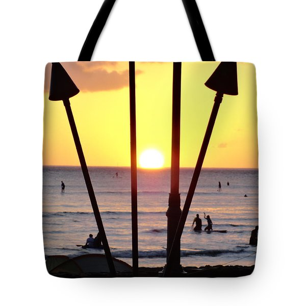 Torched Sunset Tote Bag