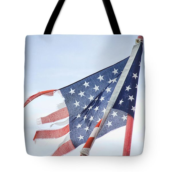 Torn American Flag Tote Bag by James BO  Insogna