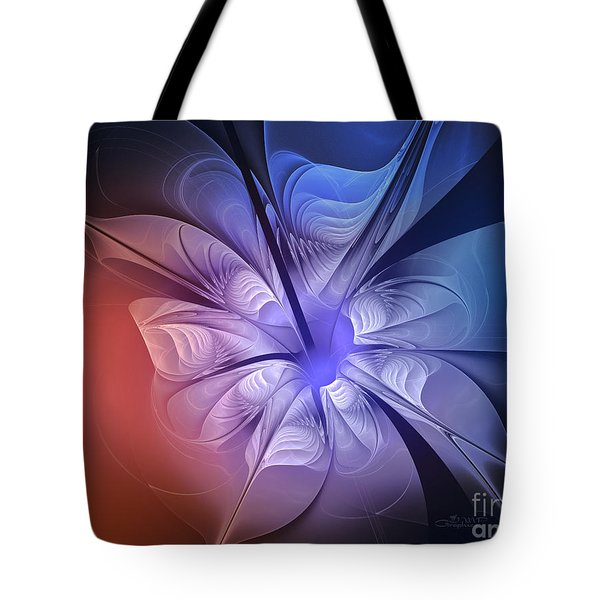 Torn Flower Tote Bag by Jutta Maria Pusl