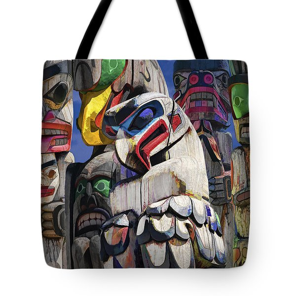 Totem Poles In The Pacific Northwest Tote Bag