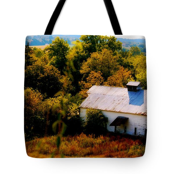 Tote Bag featuring the photograph Touch Of Old Country by Peggy Franz
