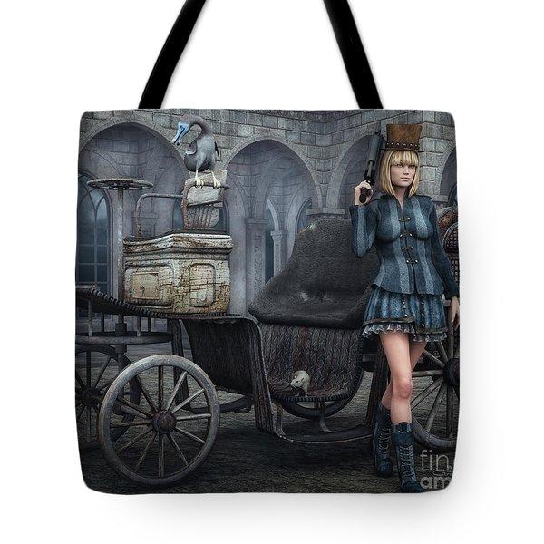 Tough Lady Tote Bag by Jutta Maria Pusl
