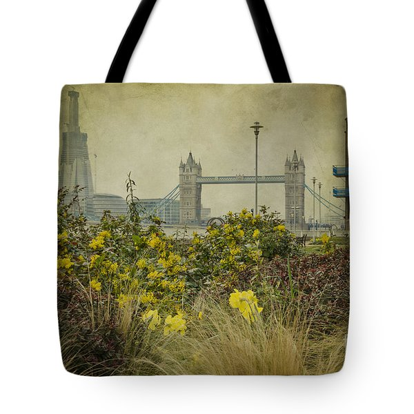 Tower Bridge In Springtime. Tote Bag by Clare Bambers