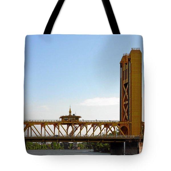 Tower Bridge Sacramento - A Golden State Icon Tote Bag by Christine Till
