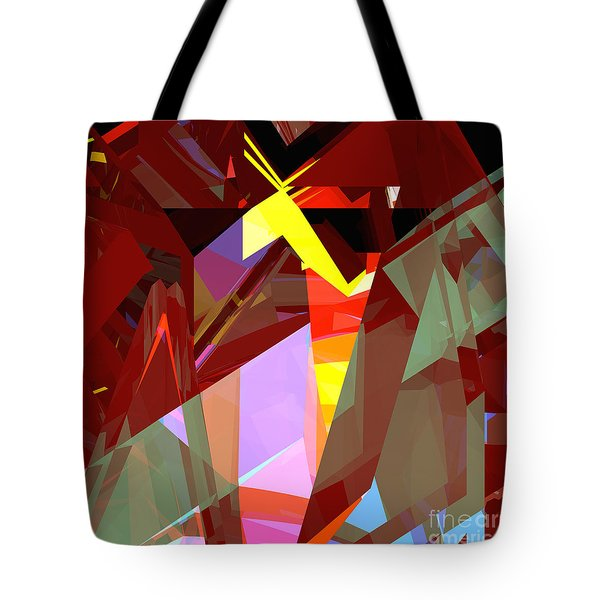 Tower Series 20 Night House Tote Bag by Russell Kightley