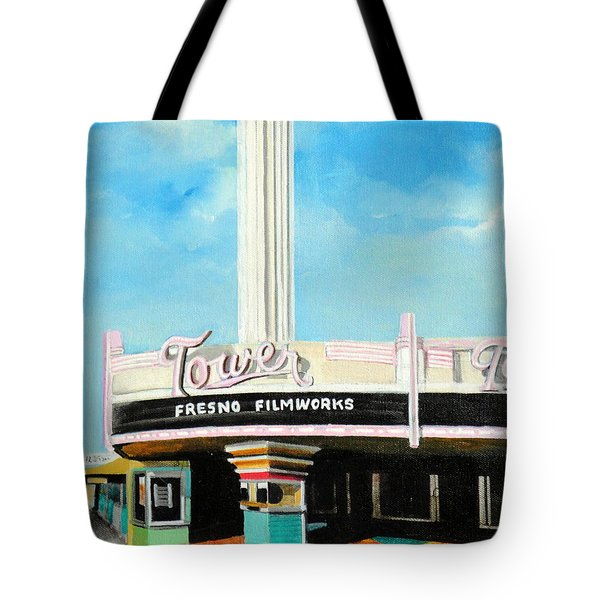 Tower Theater Fresno Tote Bag