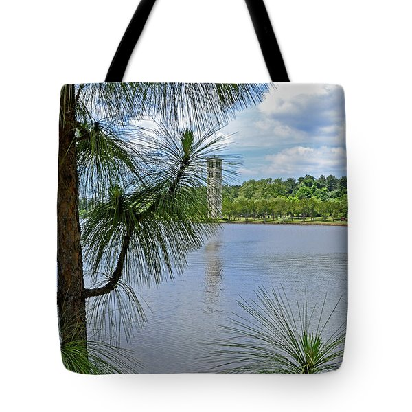 Tower Thru The Pine Tote Bag by Larry Bishop