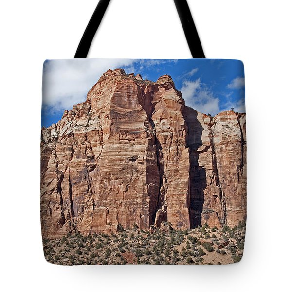 Tote Bag featuring the photograph Towering Cliffs by Bob and Nancy Kendrick