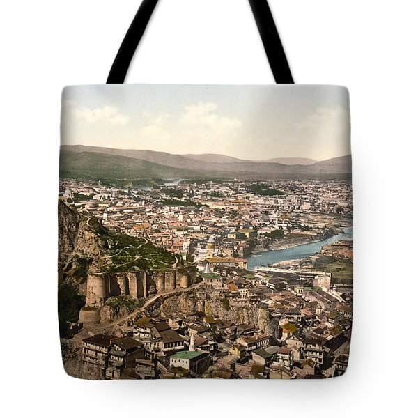Town Fortress In Tbilisi - Georgia Tote Bag by International  Images