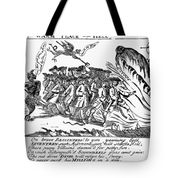 Townsend Act Cartoon, 1768 Tote Bag by Granger