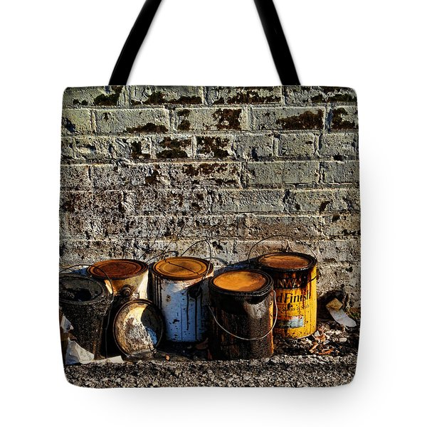 Toxic Alley Grunge Art Tote Bag by Kathy Clark