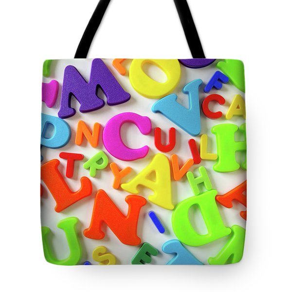Toy Letters Tote Bag