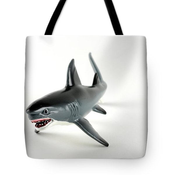 Toy Shark Tote Bag by Photo Researchers, Inc.