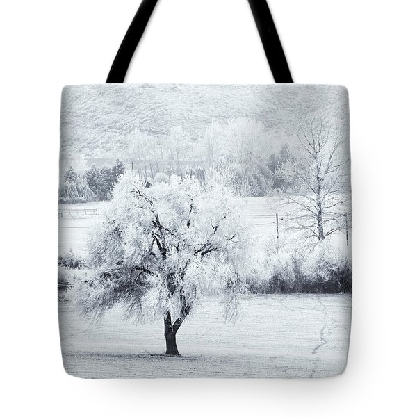 Tracks In The Frost Tote Bag by Mike  Dawson