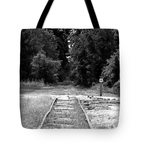 Tote Bag featuring the photograph Abandoned Rails by John Black