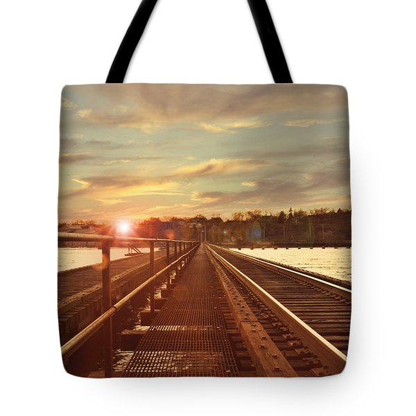 Tracks To Greatness Tote Bag by Joel Witmeyer