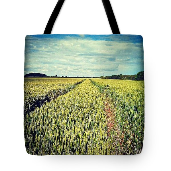 Tractor Tracks Tote Bag