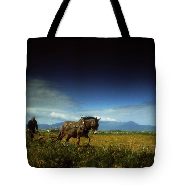 Traditional Harrowing, Castlegregory Tote Bag by The Irish Image Collection
