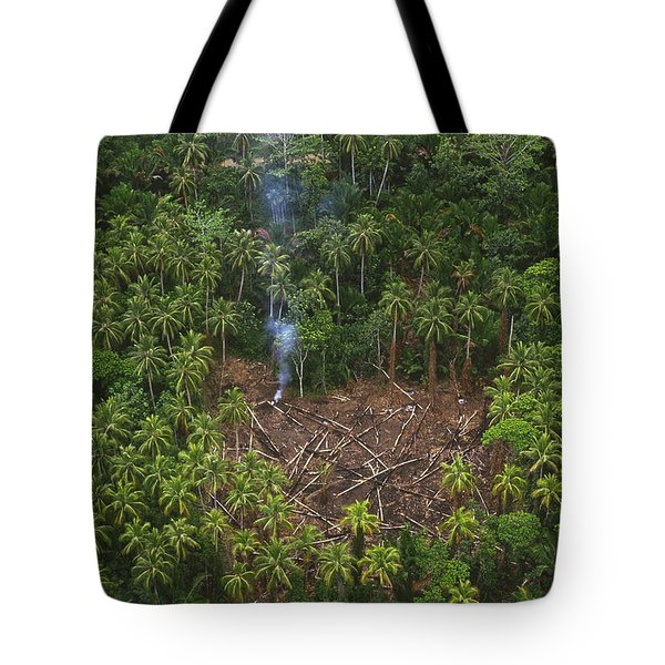 Traditional Slash And Burn Clearcut Tote Bag