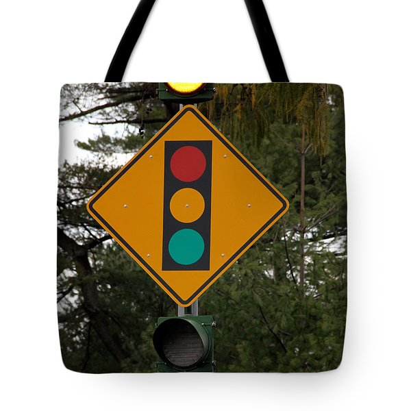Traffic Sign Tote Bag by Photo Researchers