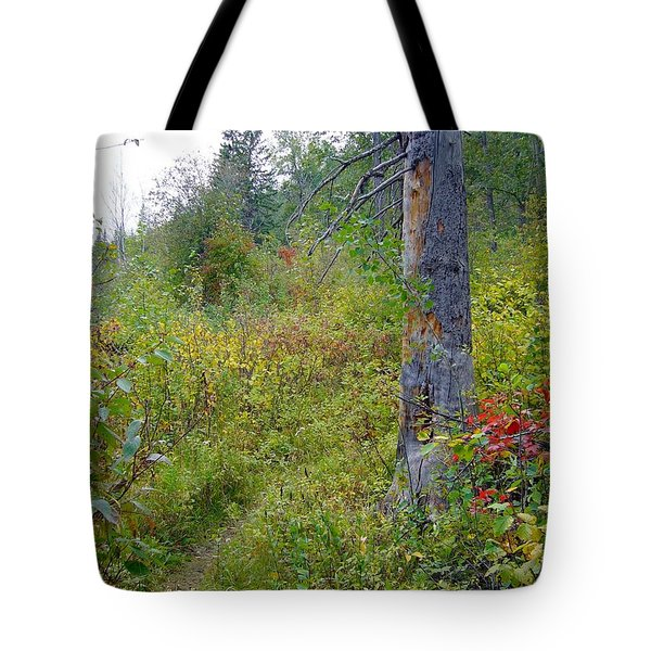 Tote Bag featuring the photograph Trail Sign by Jim Sauchyn