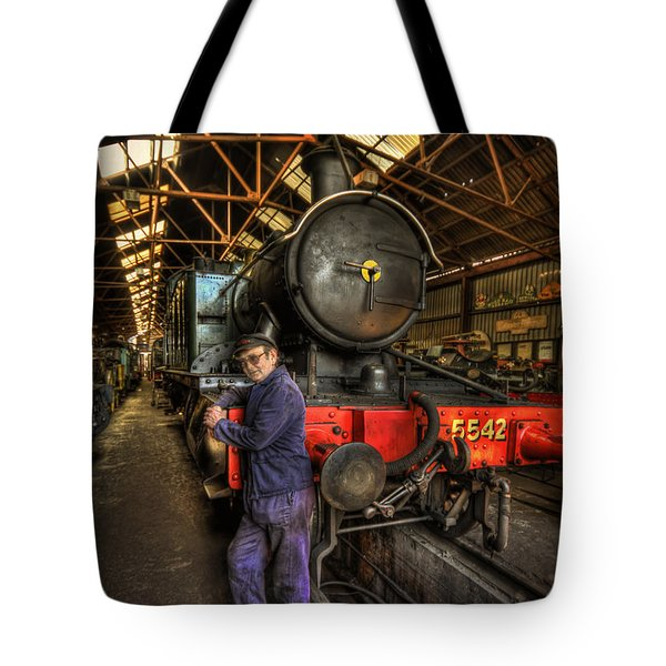 Train Of Thoughts Tote Bag by Evelina Kremsdorf