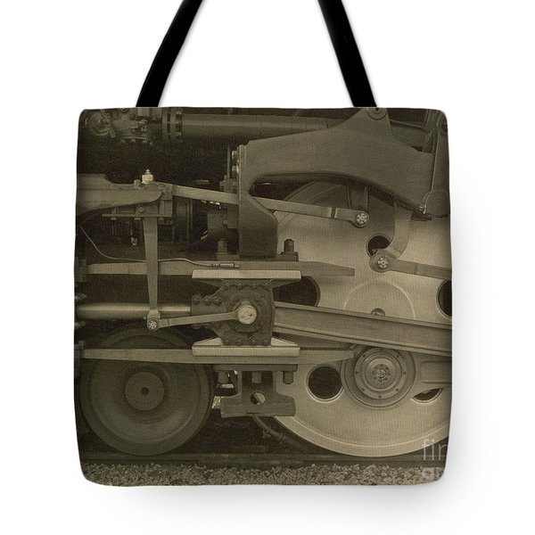 Train Wheels Tote Bag by Photo Researchers