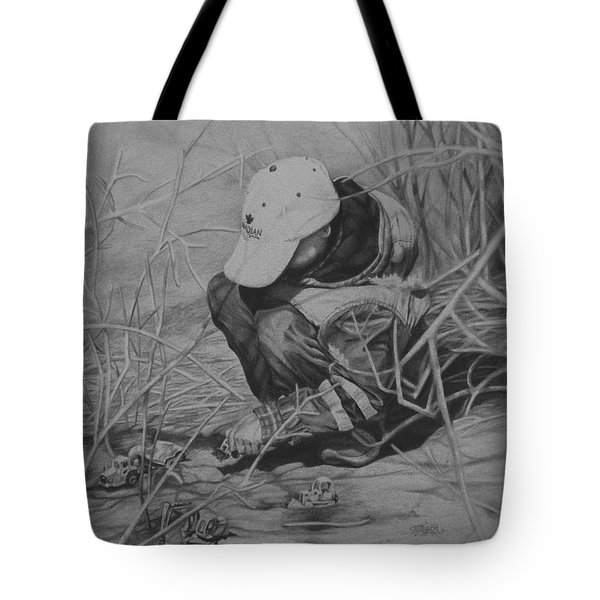 Tote Bag featuring the painting Training Day 1 by Tammy Taylor
