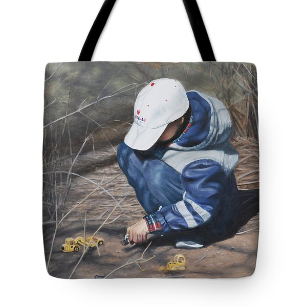 Tote Bag featuring the painting Training Day by Tammy Taylor