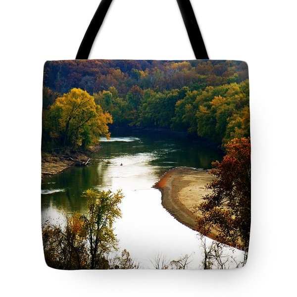 Tote Bag featuring the photograph Tranquil View by Peggy Franz