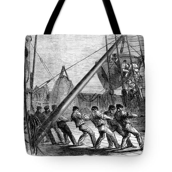 Trans-atlantic Cable, 1869 Tote Bag by Granger
