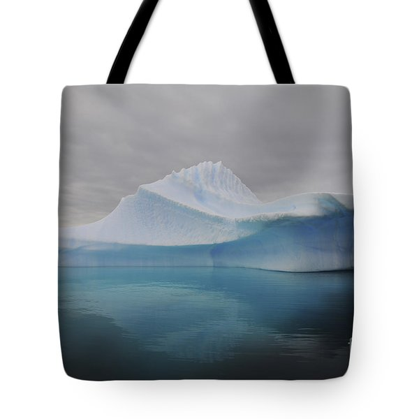 Translucent Blue Iceberg Reflection Tote Bag by Mathieu Meur