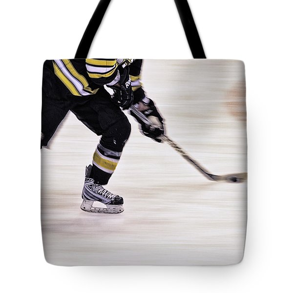 Traveling With The Puck Tote Bag by Karol Livote