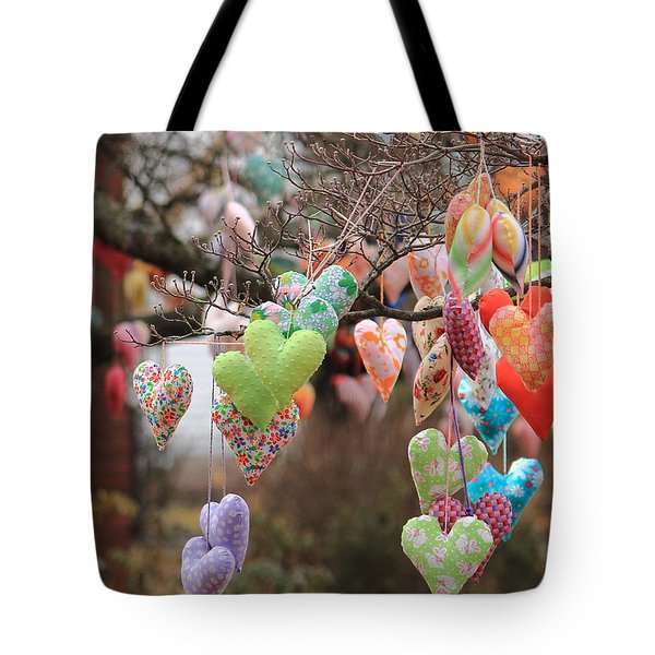 Tree Hearts Tote Bag