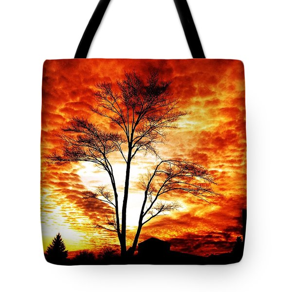 Tree Light Tote Bag