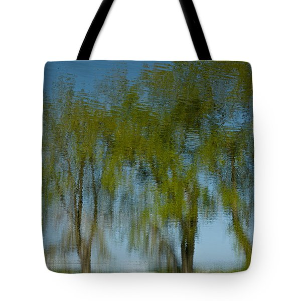 Tree Line Reflections Tote Bag