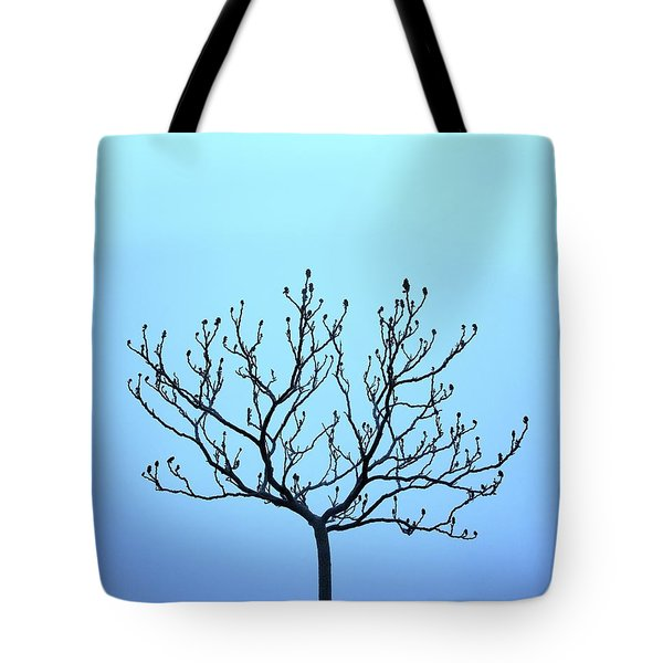 Tree With The Blues Tote Bag