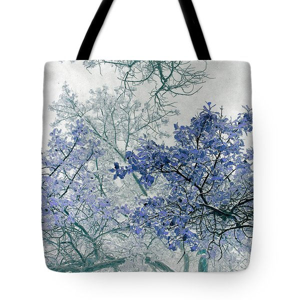 Trees Above Tote Bag by Rebecca Margraf