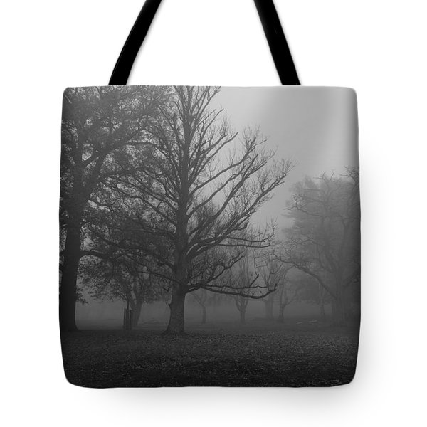 Tote Bag featuring the photograph Trees And Fog by Maj Seda