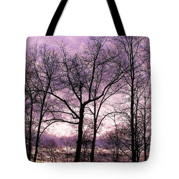 Tote Bag featuring the photograph Trees In Glorious Calm by Pamela Hyde Wilson