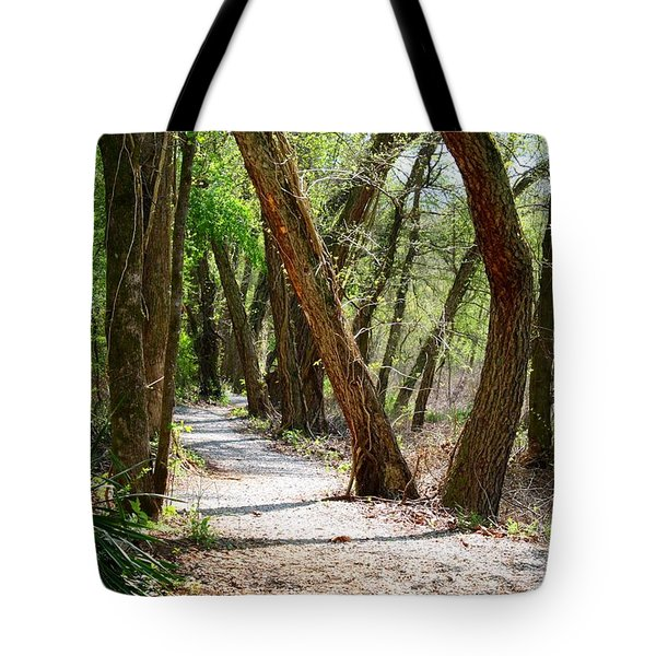 Tote Bag featuring the photograph Trestle Walk by Kathryn Meyer