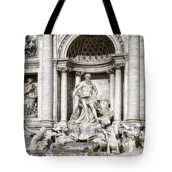 Trevi Fountain Detail Tote Bag by Joan Carroll