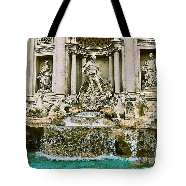 Trevi Fountain Tote Bag by Eric Tressler