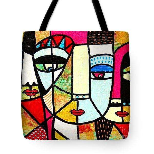 Tribal Batik Mask Spiritual Tote Bag