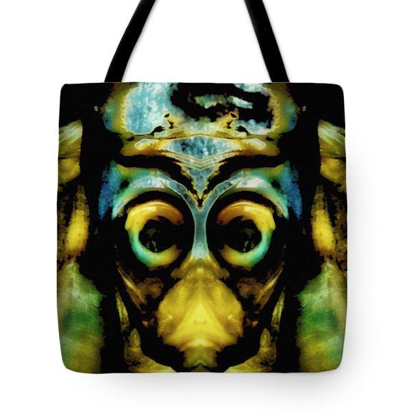 Tribal Mask Tote Bag by Skip Nall