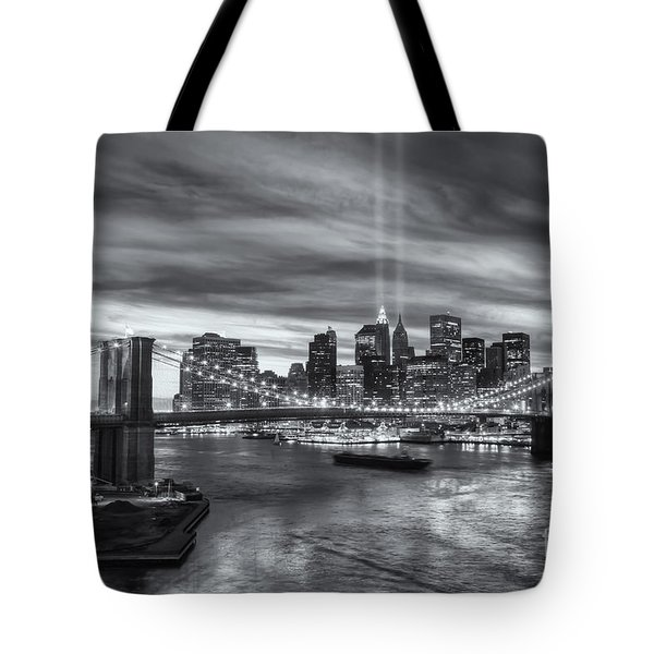 Tribute In Light V Tote Bag by Clarence Holmes